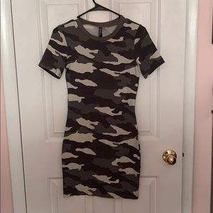 H&M Camo BodyCon Dress